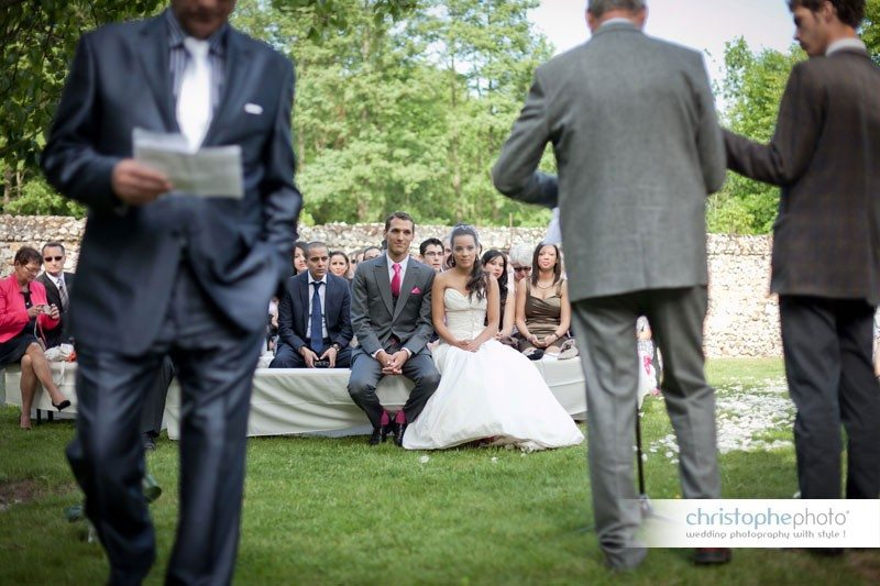 The outdoor symbolic ceremony with the father of the bride as the master of ceremony.