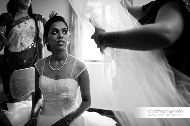 Documentary approach for the getting ready wedding photographer india.