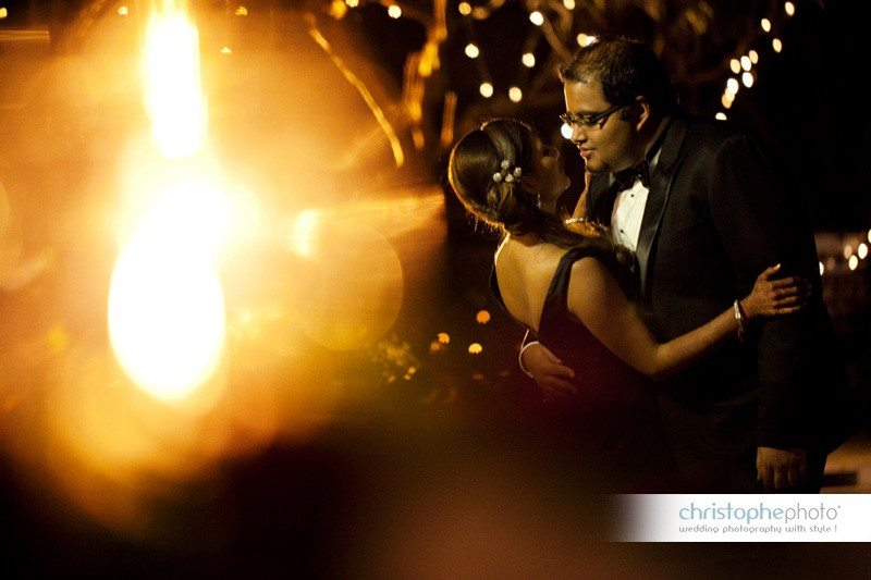 Portrait of the indian couple during the black tie reception in Kenya. As seen by Wedding Photographer Kenya.