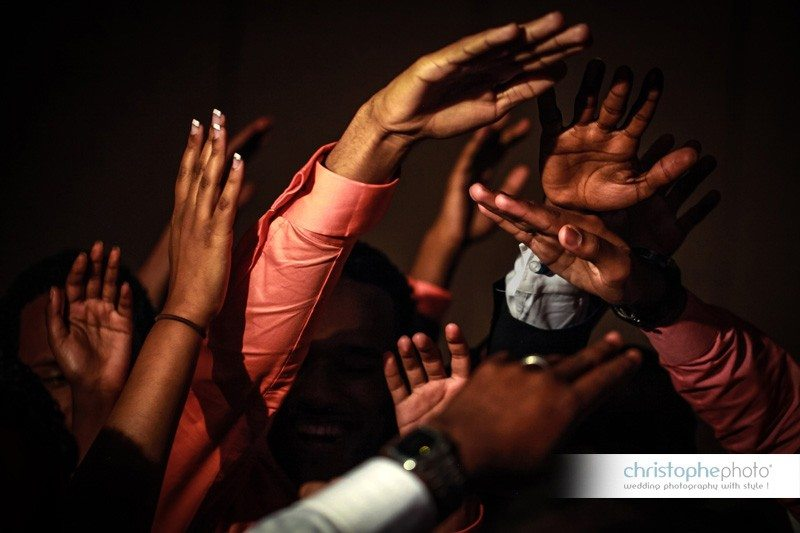 Close-up of hands during the Ethiopian Wedding in Atlanta
