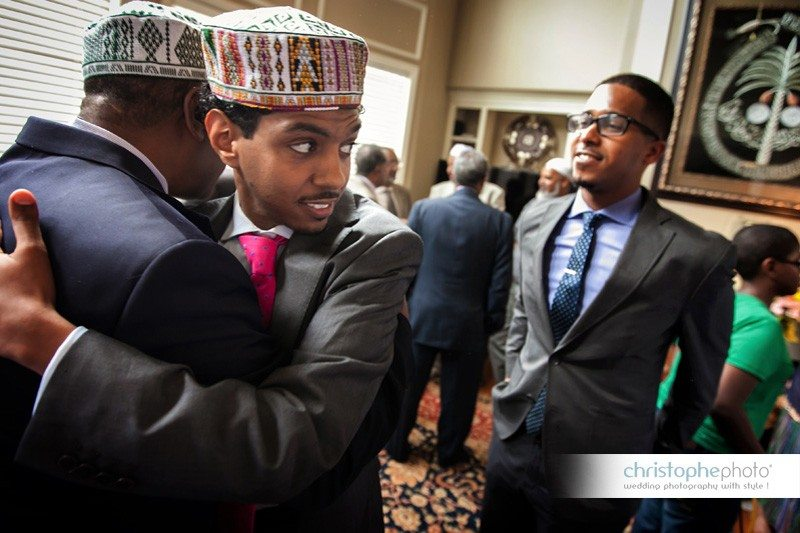 Emotional reaction at the end of the ethiopian wedding ceremony in Atlanta.